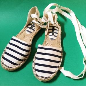 Nautical Navy Striped Espadrilles